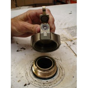 heating oil tank lock